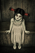 Creepy Digital Art Metal Prints - Charlotte - The Gothic Doll Metal Print by Liam Liberty