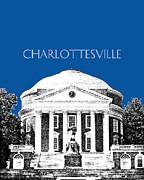 Charlottesville Va Skyline University Of Virginia - Royal Blue Print by DB Artist