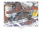 Blue Crabs Prints - Charm City Celebration Print by Jonathan Brown