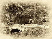 Neo Digital Art Prints - Charm of Bow Bridge Print by Jessica Jenney