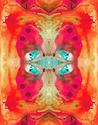 Kaleidoscope Paintings - Charmed - Abstract Art by Sharon Cummings by Sharon Cummings