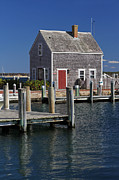 Vineyard Art Prints - Charming Edgartown Harbor  Print by Juergen Roth