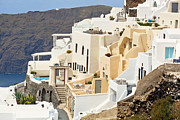 Refined Prints - Charming hotels in Santorini Print by Aiolos Greek Collections