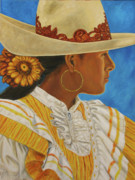 Cowgirls Paintings - Charra Bonita by Pat Haley