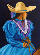 Mexican Art Painting Originals - Charra Linda by Pat Haley