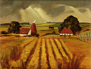 Farming Painting Prints - Chart Sutton Print by Eric Hains