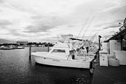 Charter Fishing Boats Charter Boat Row City Marina Key West Florida Usa Print by Joe Fox