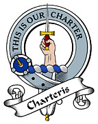 Genealogy Posters - Charteris Clan Badge Poster by Heraldry