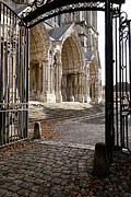 Medieval Entrance Prints - Chartres Cathedral North Transept Print by Olivier Le Queinec