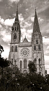 Catholic Church Posters - Chartres Cathedral Poster by Olivier Le Queinec
