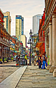 Urban Life Digital Art - Chartres Street paint by Steve Harrington