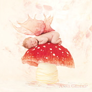 Toadstool Framed Prints - Chase 2 weeks Framed Print by Anne Geddes