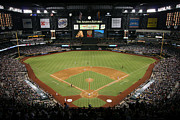Baseball Stadiums Prints - Chase Field Phoenix Arizona Print by Bill Cobb