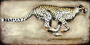 Cheetah Running Framed Prints - Chase Framed Print by Leigh Banks