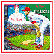 Chase Utley Poster Utterly Utley Print by A Gurmankin
