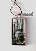 Architecture Jewelry Metal Prints - Chasing Away the Gray Handcrafted Necklace Metal Print by Jak of Arts Photography