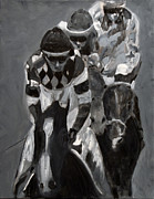 Horse Racing Paintings - Chasing Diamonds by Denise Boineau