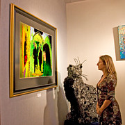 My Art In Your Home Slide Show  - Chat Noir in Art Gallery by Chuck Staley