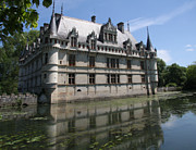 Moated Castle Prints - Chataeu Azay-le-Rideau Print by Christiane Schulze
