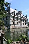Moated Castle Prints - Chateau Azay-le-Rideau Print by Christiane Schulze