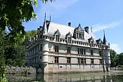Moated Castle Prints - Chateau Azay-le-Rideau From The Gardens  Print by Christiane Schulze