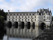 Chateaus Framed Prints - Chateau Chenonceau Framed Print by George Tocquigny