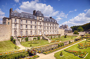 Chateau Prints - Chateau de l Hermine Vannes Brittany Print by Colin and Linda McKie