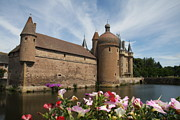 Moated Castle Prints - Chateau de la Clayette Print by Christiane Schulze
