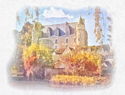 Vintage Beauty Prints - Chateau de Montresor Print by Mo T