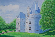 Peter Farrow Metal Prints - Chateau de Puyguilhem Dordogne Metal Print by Peter Farrow