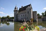 Moated Castle Prints - Chateau de Sully-sur-Loire And Moat Print by Christiane Schulze