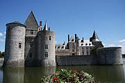 Moated Castle Prints - Chateau de Sully-sur-Loire View Print by Christiane Schulze