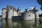 Moated Castle Prints - Chateau de Sully-sur-Loire With Moat Print by Christiane Schulze