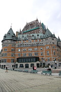 Old Home Place Framed Prints - Chateau Frontenac Quebec Framed Print by Christiane Schulze