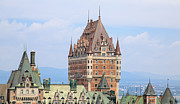 Quebec City Framed Prints - Chateau Frontenac Quebec City Canada Framed Print by Edward Fielding