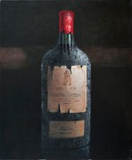 Bottle Cap Painting Posters - Chateau Latour Poster by Lincoln Seligman