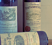 French Wine Bottles Photo Prints - Chateau Petit Faurie de Soutard Print by Georgia Fowler