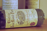 French Wine Bottles Photo Prints - Chateau Tour Saint Pierre Print by Georgia Fowler