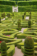Chateau Photos - Chateau Villandry Garden by Brian Jannsen