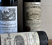 French Wine Bottles Photo Prints - Chateau Wines Print by Georgia Fowler