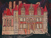 Paris Paintings - Chateu  by Oscar Penalber