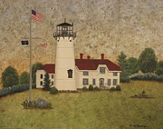 Chatham Painting Originals - Chatham Light by Becky Humbarger