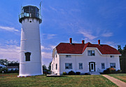 Concord Point Metal Prints - Chatham Light Metal Print by Skip Willits