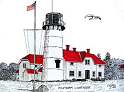 Chatham Lighthouse Drawing Print by Frederic Kohli