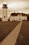 Cape Cod Mass Metal Prints - Chatham Lighthouse Metal Print by Skip Willits