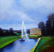 Stately Home Paintings - Chatsworth House by Ruth Gray