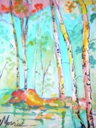River View Paintings - Chattahoochee River Walk by Jill Morris