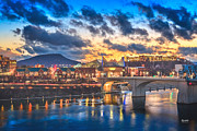 Tennessee Metal Prints - Chattanooga Evening After The Storm Metal Print by Steven Llorca