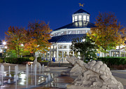 Tennessee Landmark Prints - Chattanooga Park at Night Print by Melinda Fawver