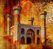 University Buildings Drawings Prints - Chauburji Gate Print by Catf